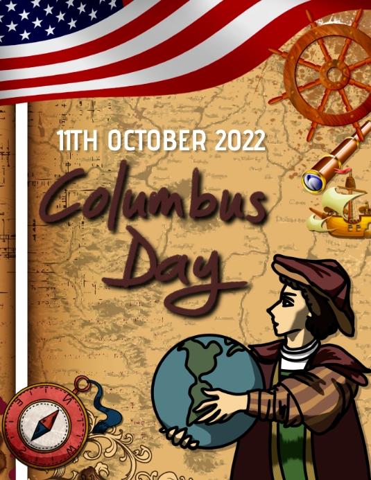 Columbus day,event Folder (US Letter) template