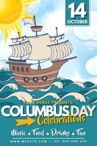 Columbus Day Celebration Poster