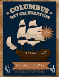 Columbus Day Event Flyer
