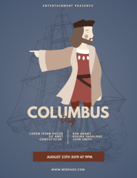 Columbus Day Event Flyer Template