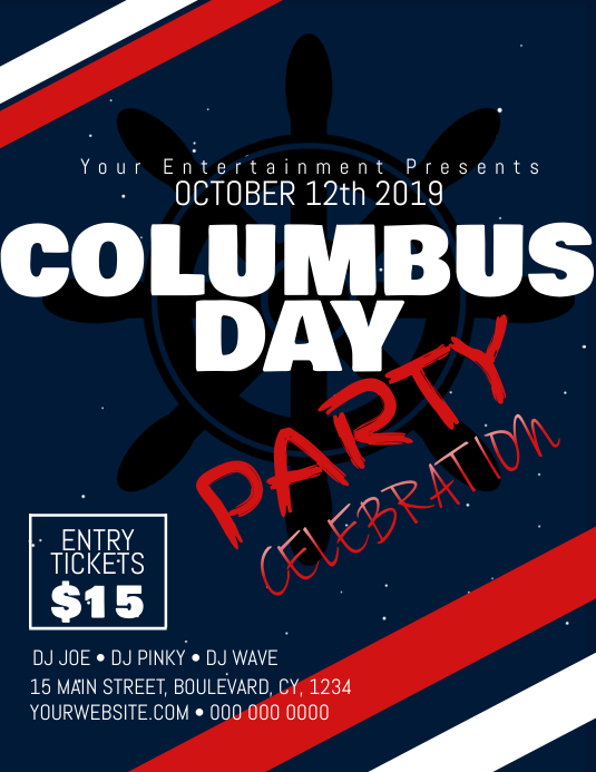 COLUMBUS day party