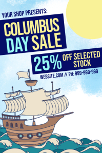 Columbus Day Retail Poster