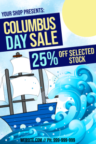 Columbus Day Retail Sale Poster