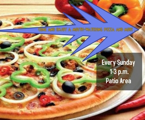 Come and enjoy a mouth-watering pizza