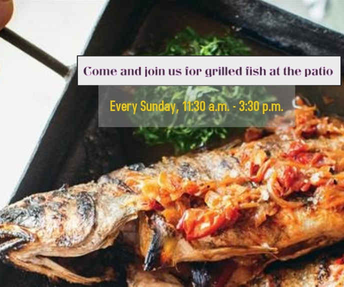 Come and join us for grilled fish Malaking Rektangle template