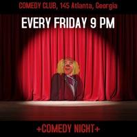 Comedy club Carré (1:1) template