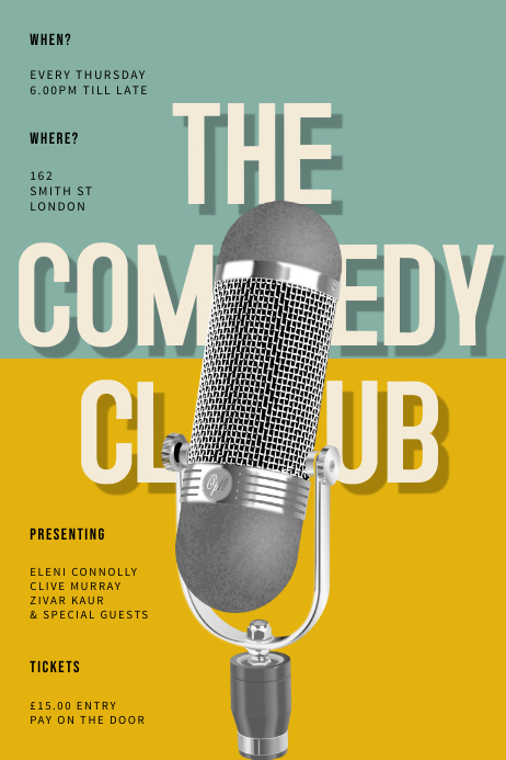 Comedy Club Poster Plakat template