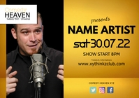 Comedy Comedian Stand up Show Night Club Ad A5 template