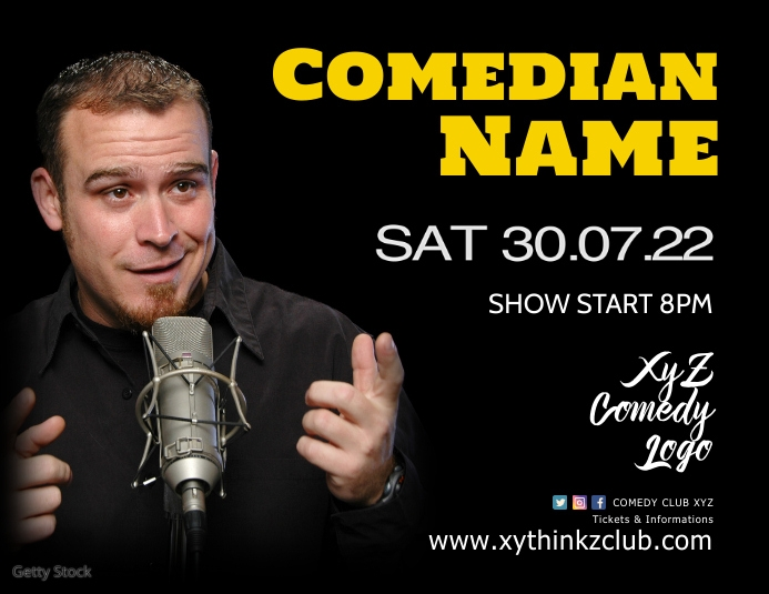 Comedy Comedian Stand up Show Plays Club Ad