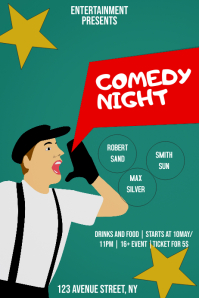 Comedy event party flyer template