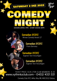 Comedy Night Comedian Star Artists Show A4 template