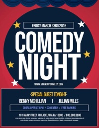 comedy night Flyer (Letter pang-US) template