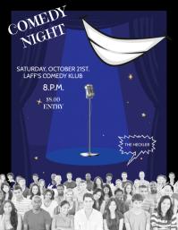 COMEDY NIGHT Volante (Carta US) template