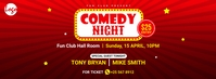 Comedy night facebook cover template