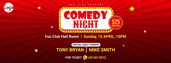 Comedy night facebook cover Facebook-omslagfoto template