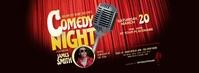 Comedy Night Facebook Cover Photo Zdjęcie w tle na Facebooka template