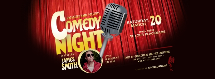 Comedy Night Facebook Cover Photo template