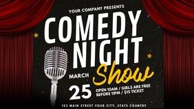 Comedy Night Facebook Cover Video