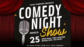 Comedy Night Facebook Cover Video