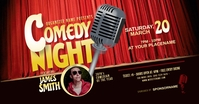 Comedy Night Facebook Shared Image template