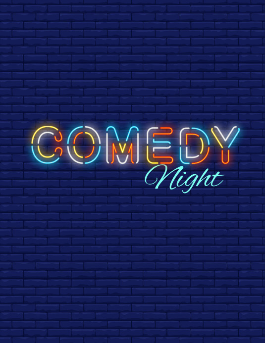 Comedy Night flyer ใบปลิว (US Letter) template