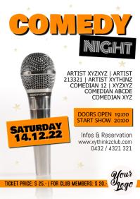 Comedy Night Flyer Poster Invitation Advert