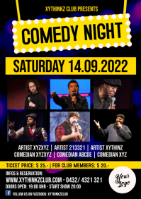Comedy Night Flyer Poster Template A4