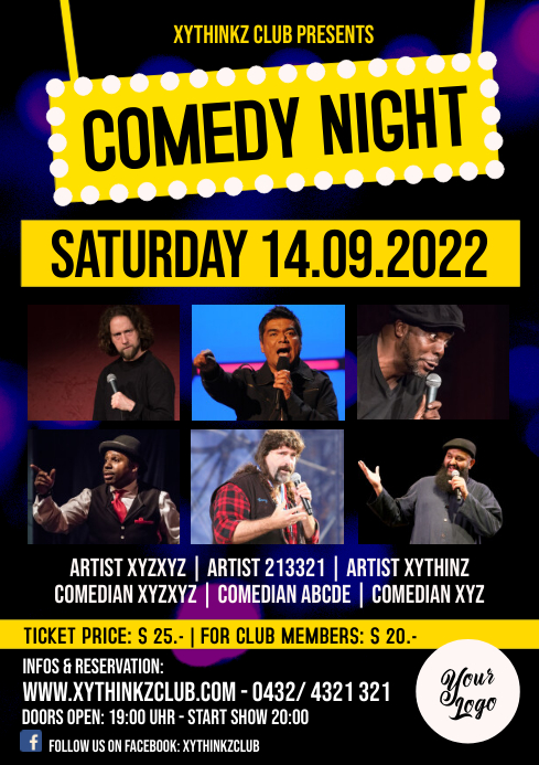 Comedy Night Flyer Poster Template