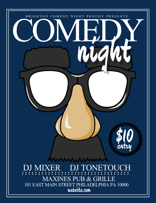 comedy night template postermywall