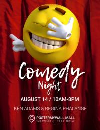 comedy night flyer template Iflaya (Incwadi ye-US)