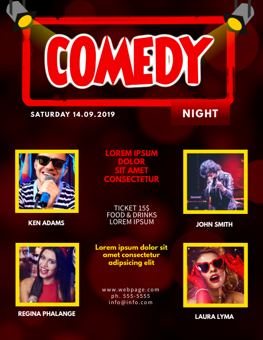 Comedy Night Flyer Template