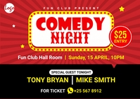 Comedy night postcard template