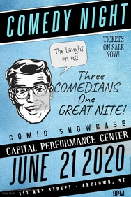 100+ Customizable Design Templates for Comedy Flyer | PosterMyWall