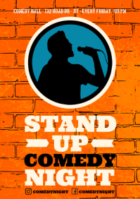 COMEDY NIGHT POSTER A4 template