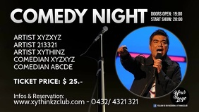 Comedy Night show stand up banner header ad