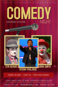 comedy night stand up comedy flyer template