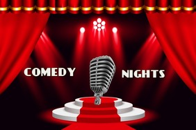 Comedy Nights stage show Banner 4' × 6' template