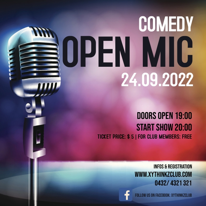 Comedy open mic night show stand up ad