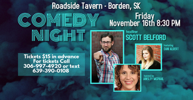 Comedy Show Facebook Event template
