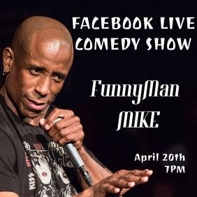 Comedy show flyer event online live stream