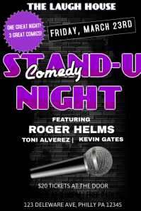 COMEDY SHOW Poster template
