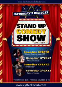 Comedy Show Night Comedian Stand up Ad A4 template