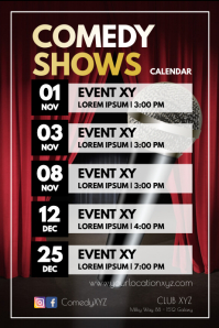 Comedy Shows Upcoming Gigs Acts Calendar ad