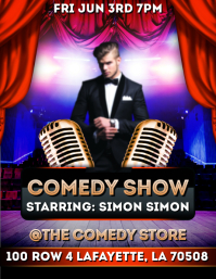 COMEDY STAGE PLAY SHOW FLYER TEMPLATE