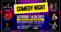 Comedy Stand up Night Show Add Event Template Рекламное объявление Facebook