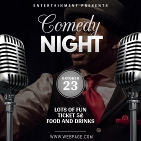 Comedy theatre or karaoke night instagram video template