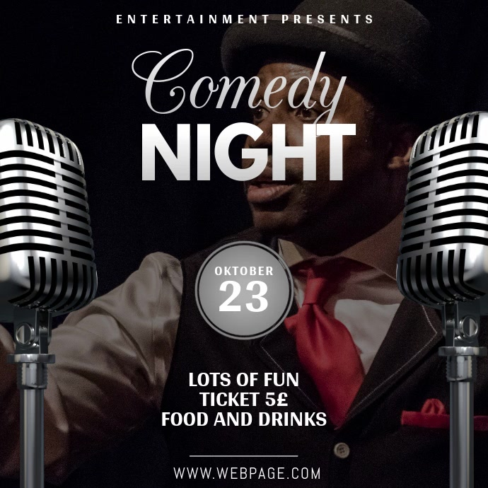 Comedy Theatre Or Karaoke Night Instagram Video Template  Postermywall