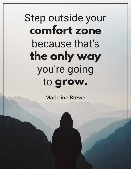 Comfort Zone Inspirational Quote