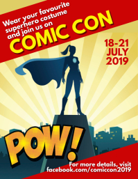Comic con day Flyer (US Letter) template