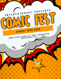 Comic FEst Flyer Template